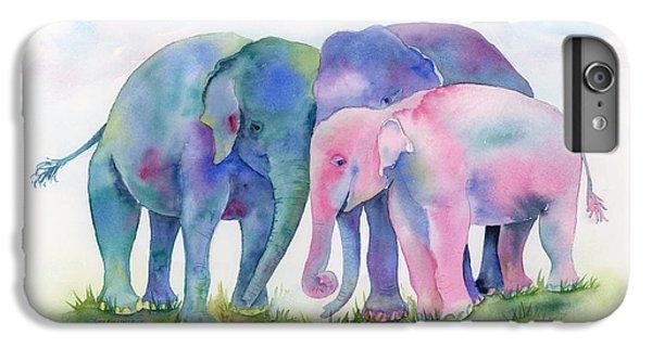 Elephant Hug IPhone 6 Plus Case by Amy Kirkpatrick