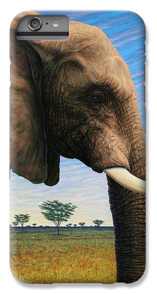 Africa iPhone 6 Plus Case - Elephant On Safari by James W Johnson