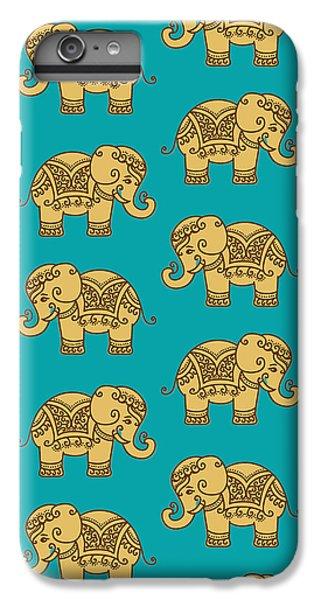 Elephant Pattern IPhone 6 Plus Case