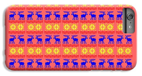 Elk Pattern Changeable Background  IPhone 6 Plus Case