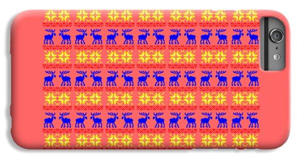 Elk Pattern Changeable Background  IPhone 6 Plus Case by Sebastien Coell