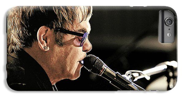 Elton John iPhone 6 Plus Case - Elton John At The Mic by Elaine Plesser