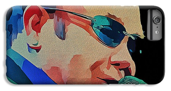 Elton John iPhone 6 Plus Case - Elton John Blue Eyes Portrait 2 by Yury Malkov