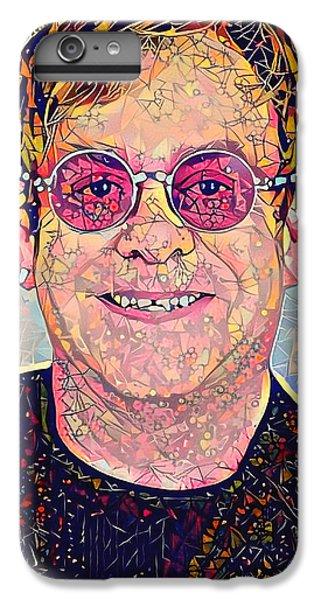 Elton John iPhone 6 Plus Case - Elton John Triangles Portrait by Yury Malkov