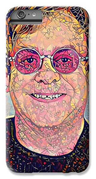 Elton John Triangles Portrait IPhone 6 Plus Case by Yury Malkov