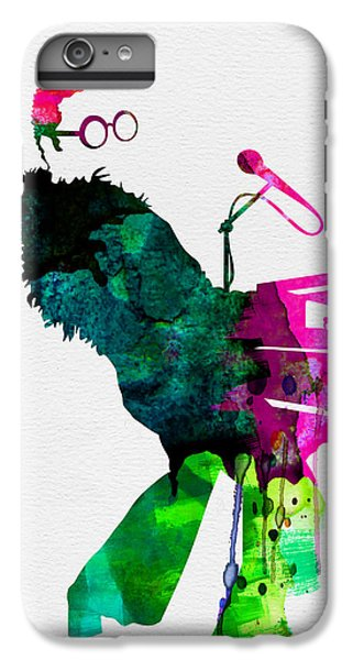Elton John iPhone 6 Plus Case - Elton Watercolor by Naxart Studio