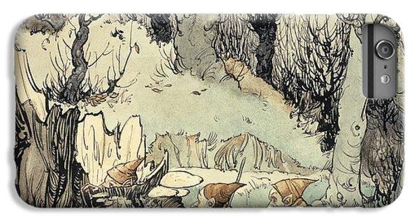 Elves In A Wood IPhone 6 Plus Case by Arthur Rackham