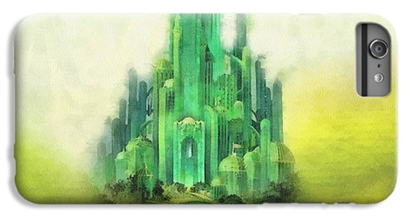 Wizard iPhone 6 Plus Case - Emerald City by Mo T