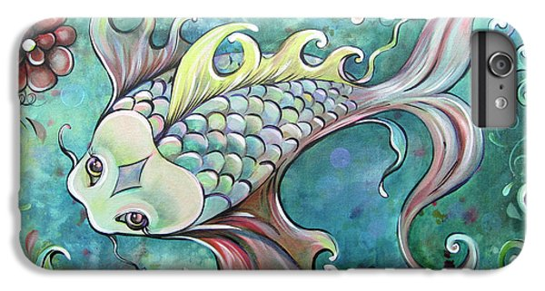 Emerald Koi IPhone 6 Plus Case by Shadia Derbyshire