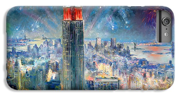 Statue Of Liberty iPhone 6 Plus Case - Empire State Building In 4th Of July by Ylli Haruni