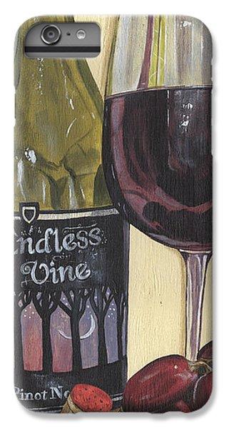 Strawberry iPhone 6 Plus Case - Endless Vine Panel by Debbie DeWitt