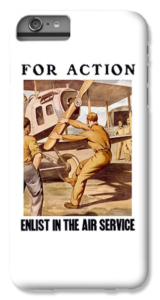 Airplane iPhone 6 Plus Case - Enlist In The Air Service by War Is Hell Store