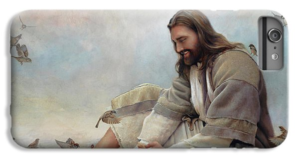 Christ iPhone 6 Plus Case - Even A Sparrow by Greg Olsen