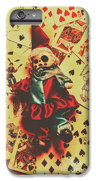 Evil Clown Doll On Playing Cards IPhone 6 Plus Case