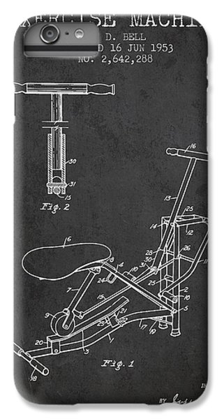Workout iPhone 6 Plus Case - Exercise Machine Patent From 1953 - Charcoal by Aged Pixel