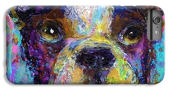 Expressive Boston Terrier Painting By IPhone 6 Plus Case