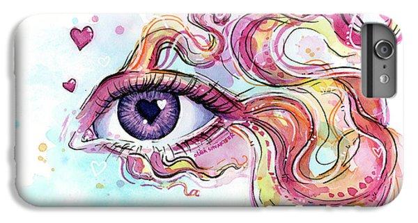 Irises iPhone 6 Plus Case - Eye Fish Surreal Betta by Olga Shvartsur