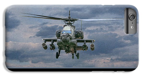 Helicopter iPhone 6 Plus Case - Face Of Death Ah-64 Apache Helicopter by Randy Steele