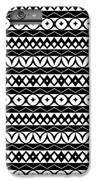 Fair Isle Black And White IPhone 6 Plus Case by Rachel Follett
