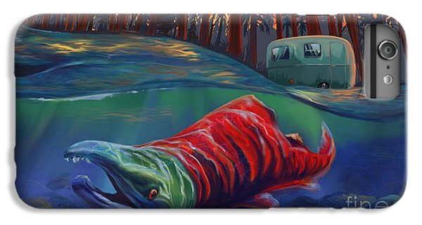 Salmon iPhone 6 Plus Case - Fall Salmon Fishing by Sassan Filsoof