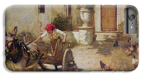Farm Yard Scene IPhone 6 Plus Case by Henry Herbert La Thangue