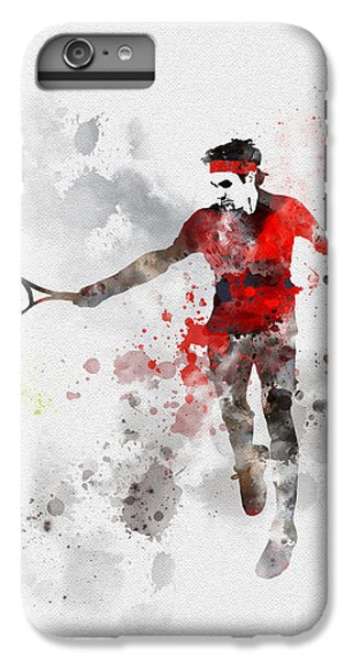 Federer IPhone 6 Plus Case by Rebecca Jenkins