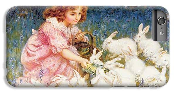 Feeding The Rabbits IPhone 6 Plus Case by Frederick Morgan