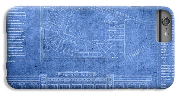 Fenway Park Blueprints Home Of Baseball Team Boston Red Sox On Worn Parchment IPhone 6 Plus Case by Design Turnpike