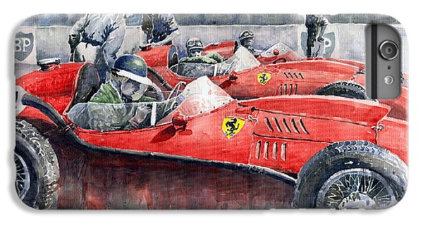 Car iPhone 6 Plus Case - Ferrari Dino 246 F1 1958 Mike Hawthorn French Gp  by Yuriy Shevchuk