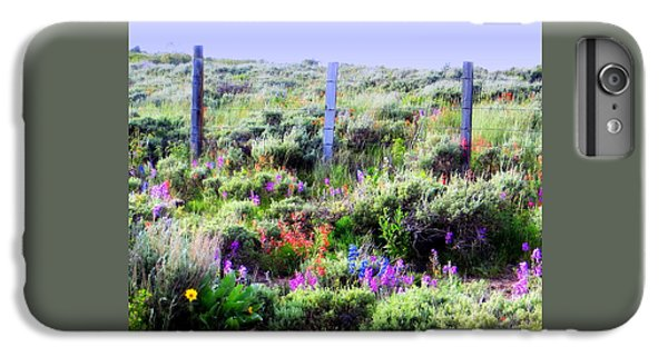 IPhone 6 Plus Case featuring the photograph Field Of Wildflowers by Karen Shackles