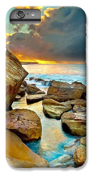 Pacific Ocean iPhone 6 Plus Case - Fire In The Sky by Az Jackson