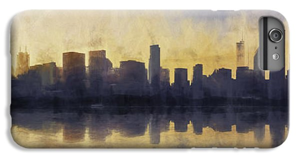 Fire In The Sky Chicago At Sunset IPhone 6 Plus Case by Scott Norris