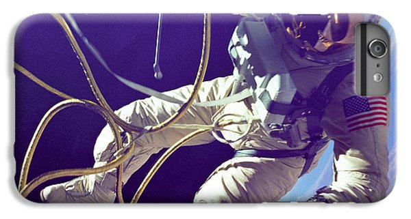 Astronauts iPhone 6 Plus Case - First American Walking In Space, Edward by Nasa
