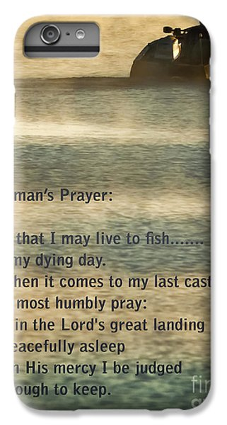 Salmon iPhone 6 Plus Case - Fisherman's Prayer by Robert Frederick