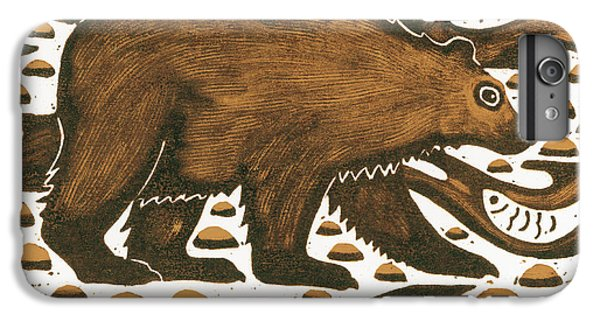 Fishing Bear IPhone 6 Plus Case by Nat Morley