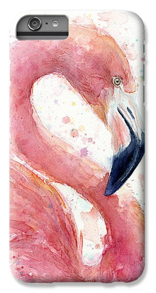 Flamingo - Facing Right IPhone 6 Plus Case by Olga Shvartsur
