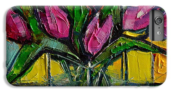 Floral Miniature - Abstract 0615 - Pink Tulips IPhone 6 Plus Case