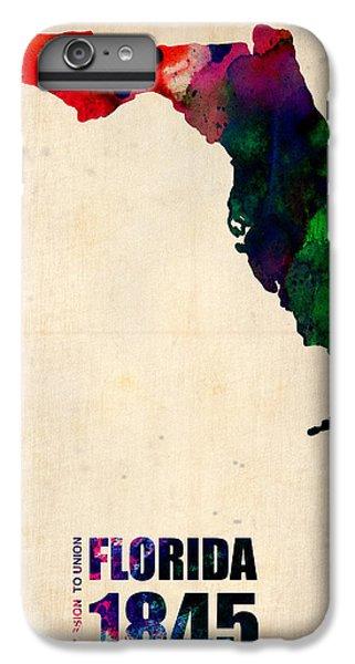 Florida Watercolor Map IPhone 6 Plus Case by Naxart Studio