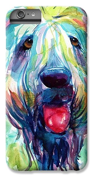 Colorful iPhone 6 Plus Case - Fluffy Wheaten Terrier Portrait By by Svetlana Novikova