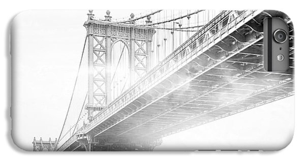 Architecture iPhone 6 Plus Case - Fog Under The Manhattan Bw by Az Jackson