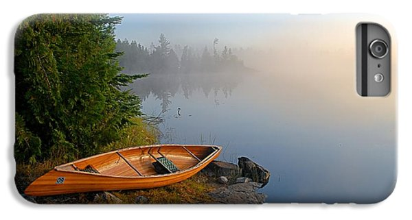 Landscapes iPhone 6 Plus Case - Foggy Morning On Spice Lake by Larry Ricker