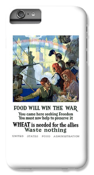 Statue Of Liberty iPhone 6 Plus Case - Food Will Win The War by War Is Hell Store