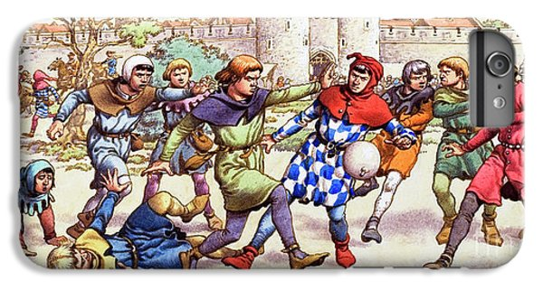 Tower Of London iPhone 6 Plus Case - Football In The Middle Ages by Pat Nicolle