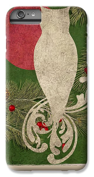 Forest Holiday Christmas Owl IPhone 6 Plus Case by Mindy Sommers