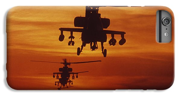 Helicopter iPhone 6 Plus Case - Four Ah-64 Apache Anti-armor by Stocktrek Images