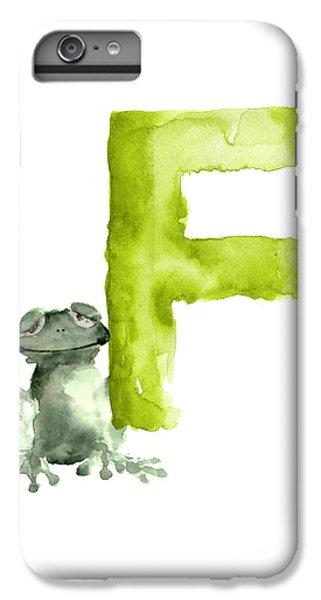 Frog Watercolor Alphabet Painting IPhone 6 Plus Case by Joanna Szmerdt