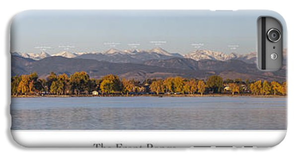 Front Range With Peak Labels IPhone 6 Plus Case