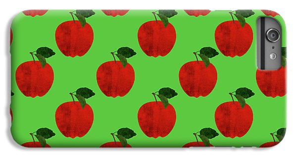Fruit 02_apple_pattern IPhone 6 Plus Case by Bobbi Freelance