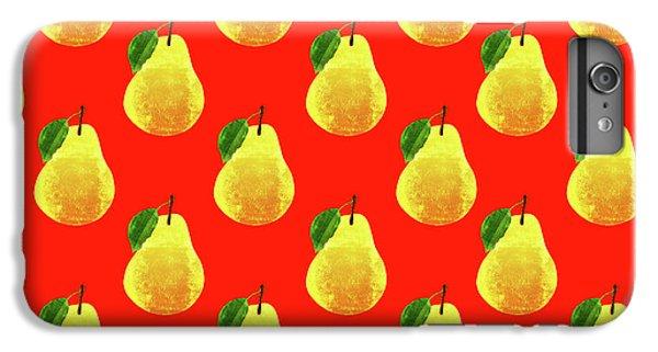 Fruit 03_pear_pattern IPhone 6 Plus Case by Bobbi Freelance