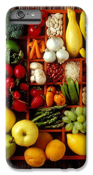 Fruits And Vegetables In Compartments IPhone 6 Plus Case